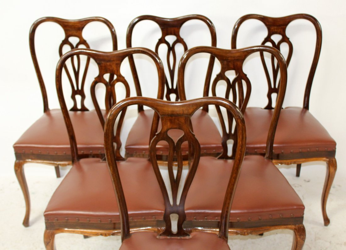 Set of 6 Italian Chippendale dining chairs - 2