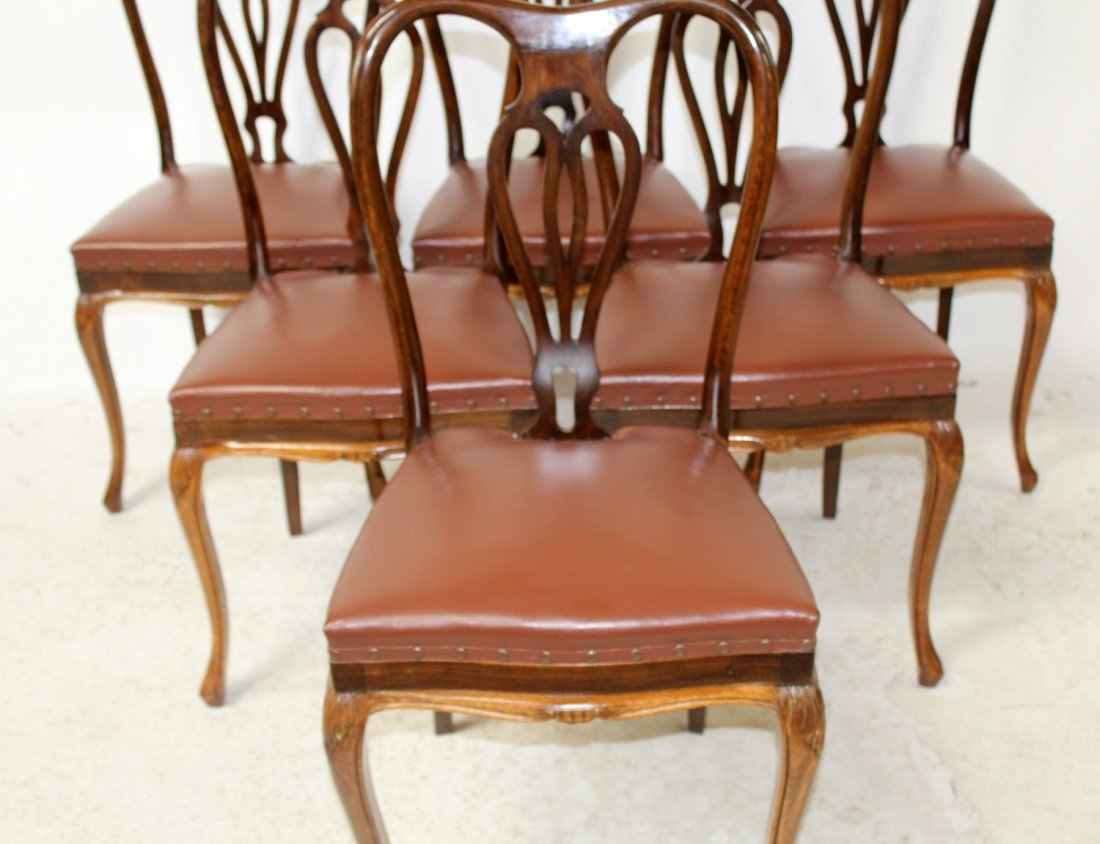 Set of 6 Italian Chippendale dining chairs - 3