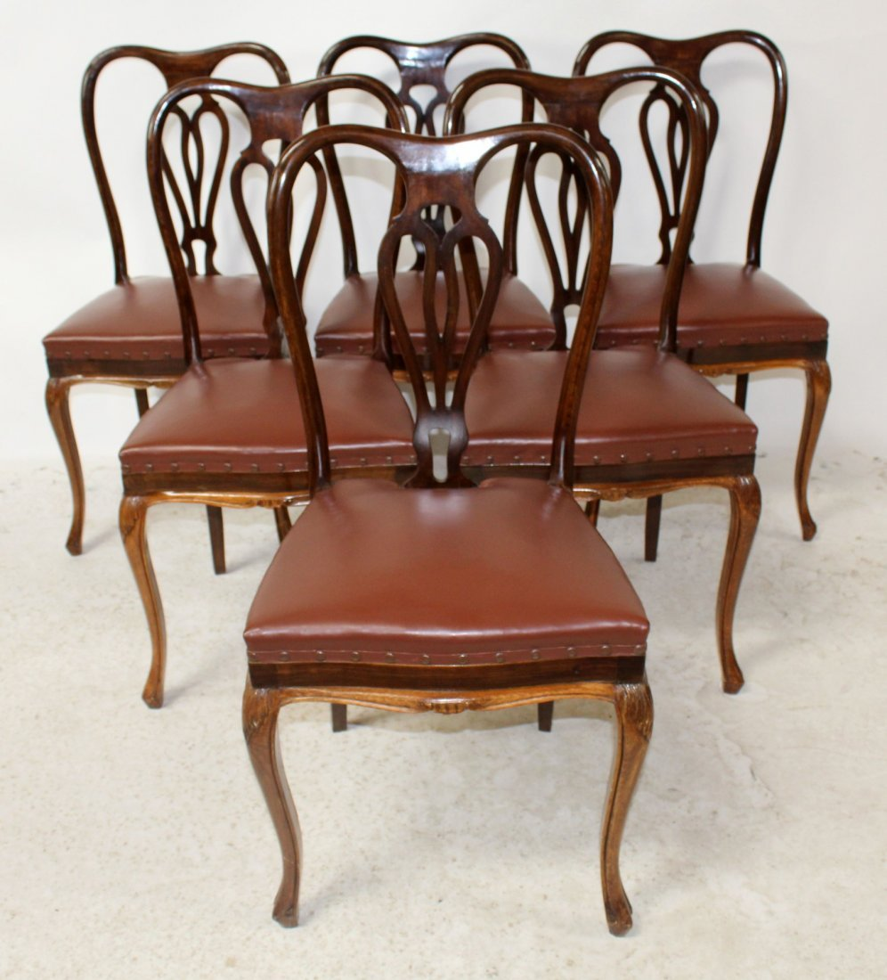 Set of 6 Italian Chippendale dining chairs - 4