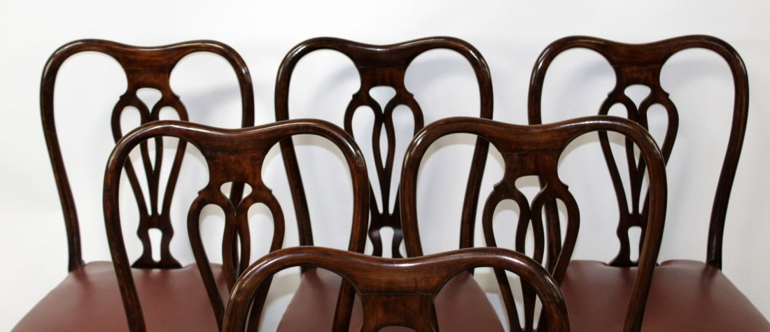 Set of 6 Italian Chippendale dining chairs - 5