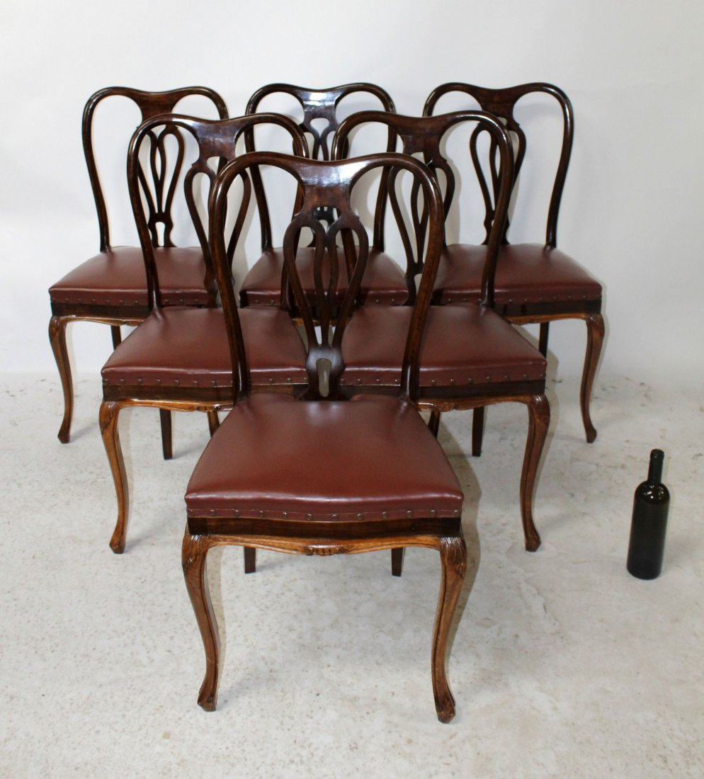 Set of 6 Italian Chippendale dining chairs - 6