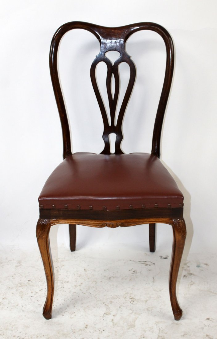 Set of 6 Italian Chippendale dining chairs - 7