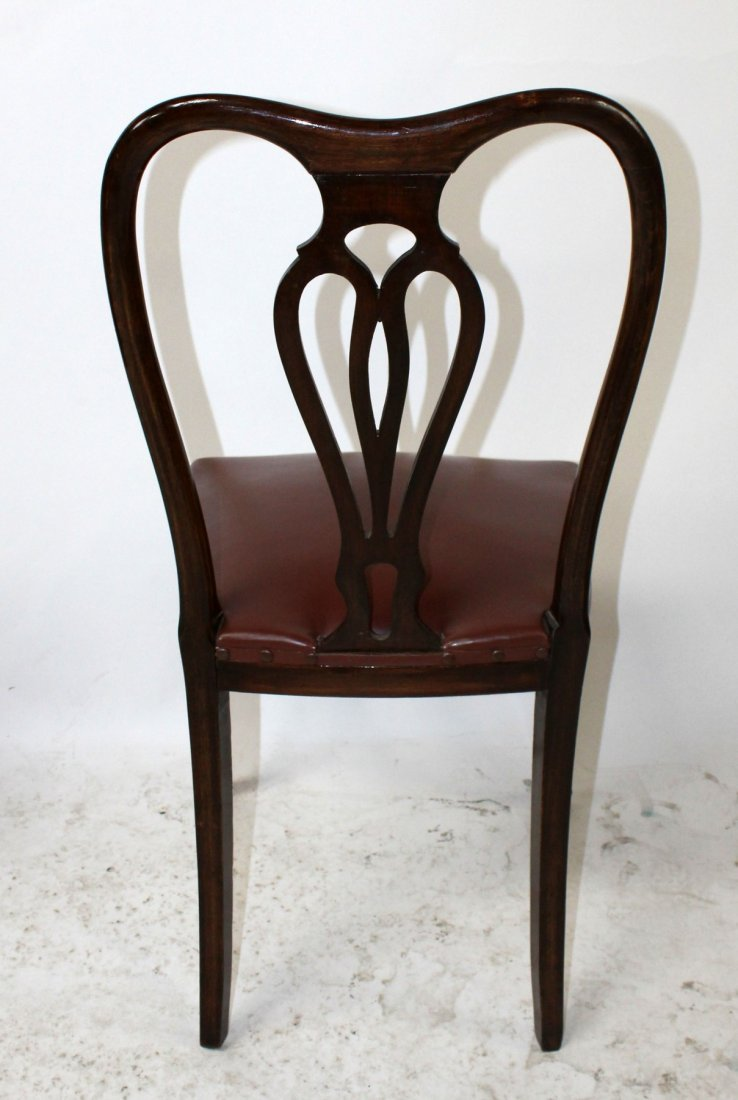 Set of 6 Italian Chippendale dining chairs - 8