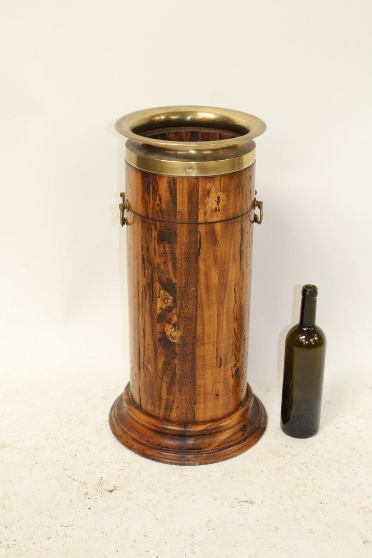 French wood & brass umbrella stand