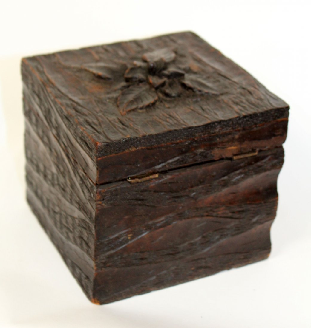 French carved Black Forest dresser box
