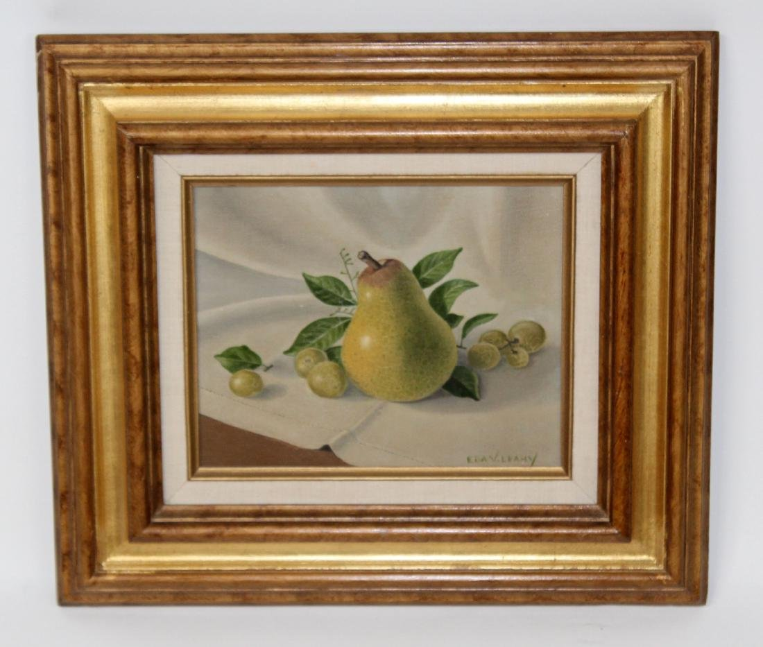 Eda V Leachy oil on canvas fruit still life