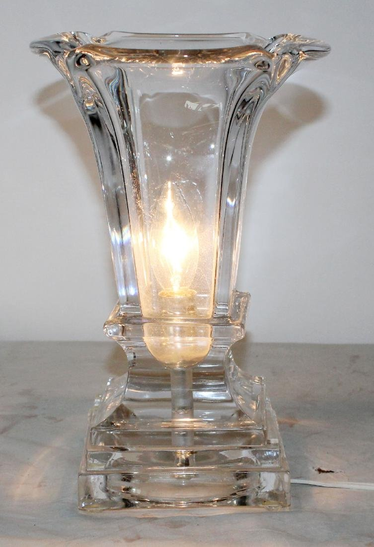 Flared Crystal vase lamp