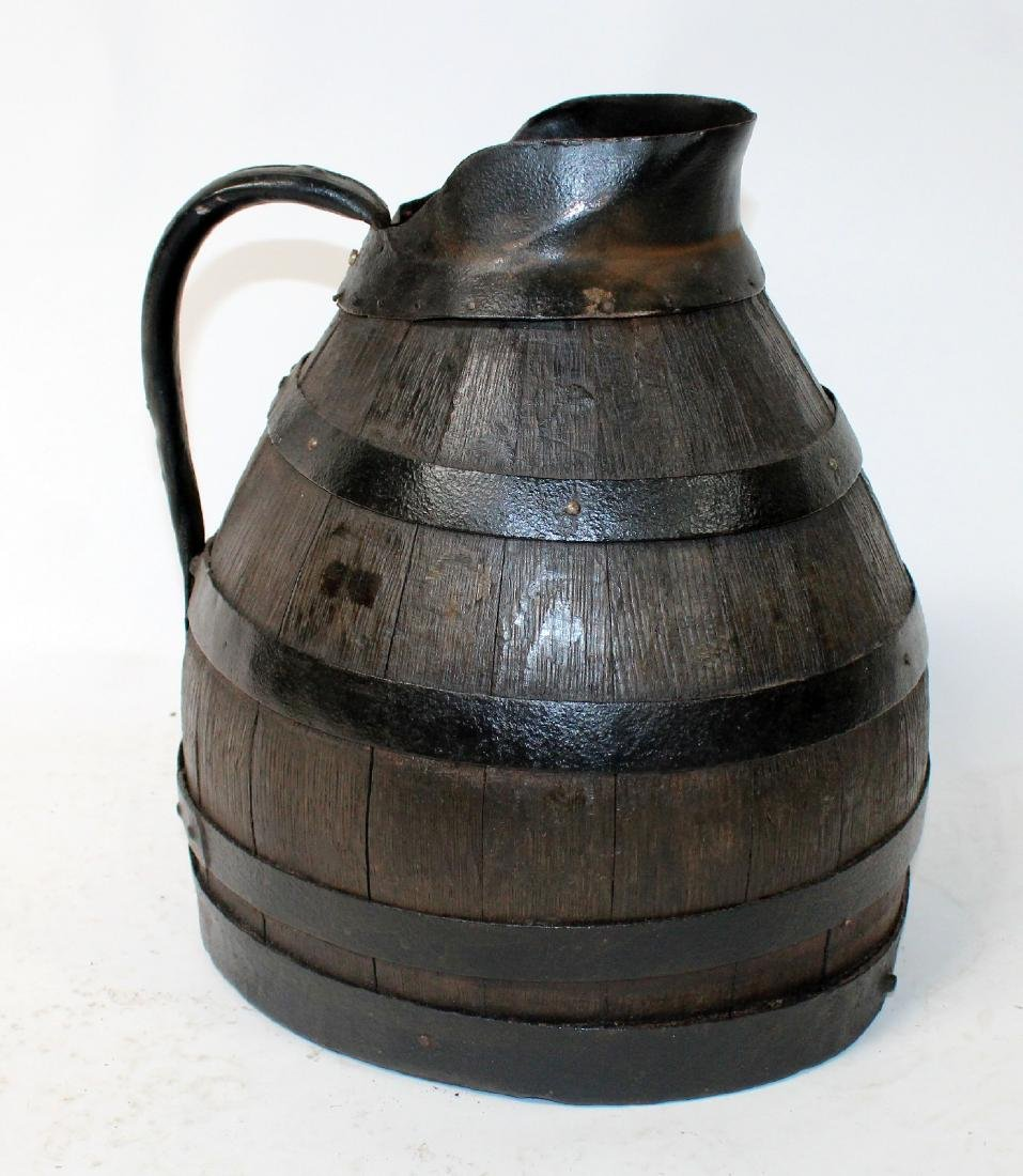 French Alsacian wooden wine pitcher