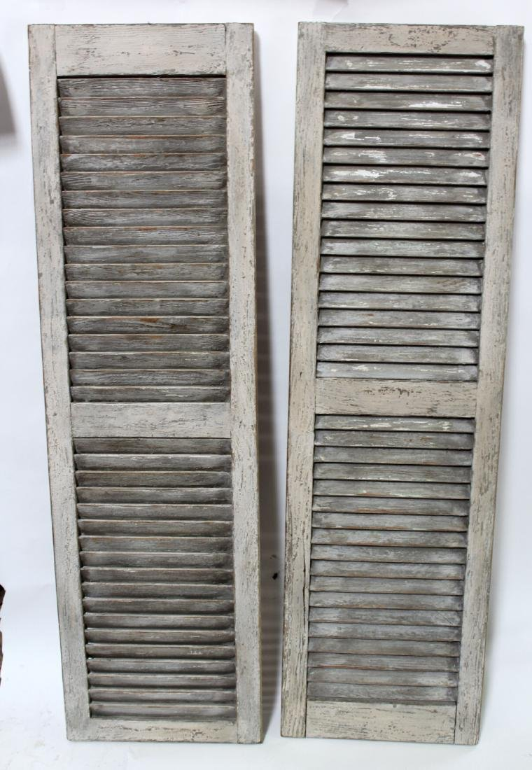 Pair of painted provincial shutters