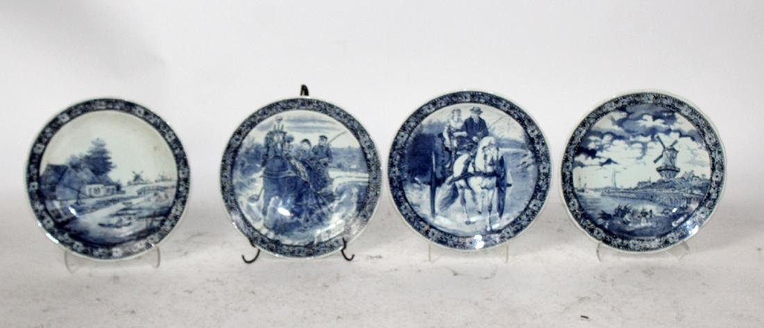 Lot of 4 Delft platters