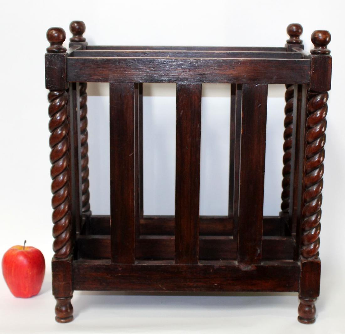 English mahogany magazine rack