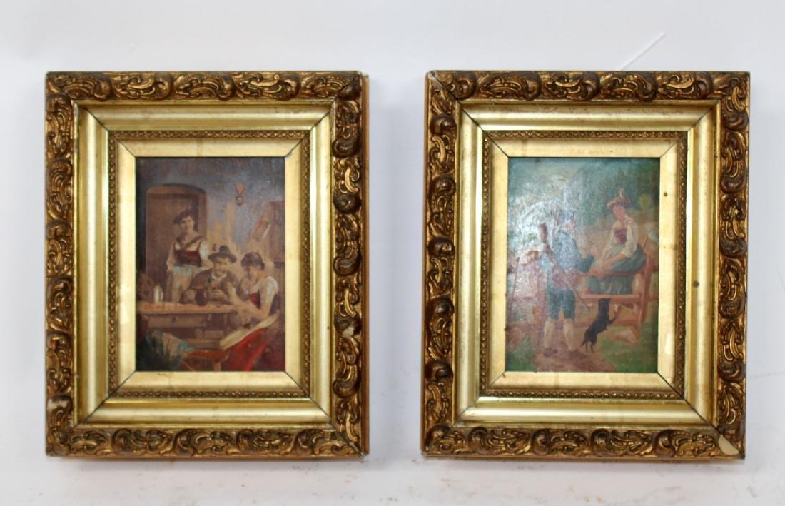 2 Italian paintings in gilt frames