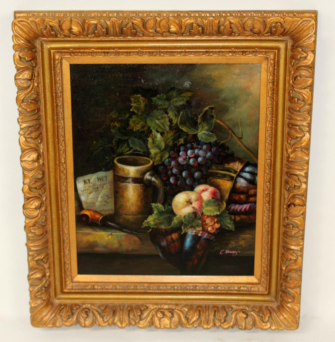 Still life with fruit oil on canvas