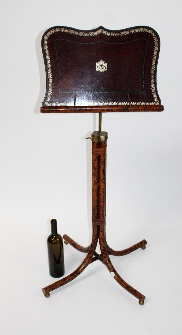 Maitland Smith tooled leather music stand