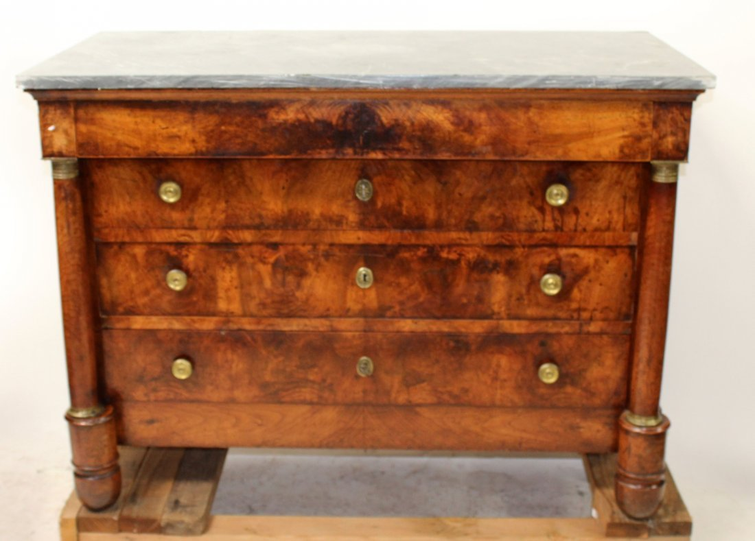French Empire commode with marble