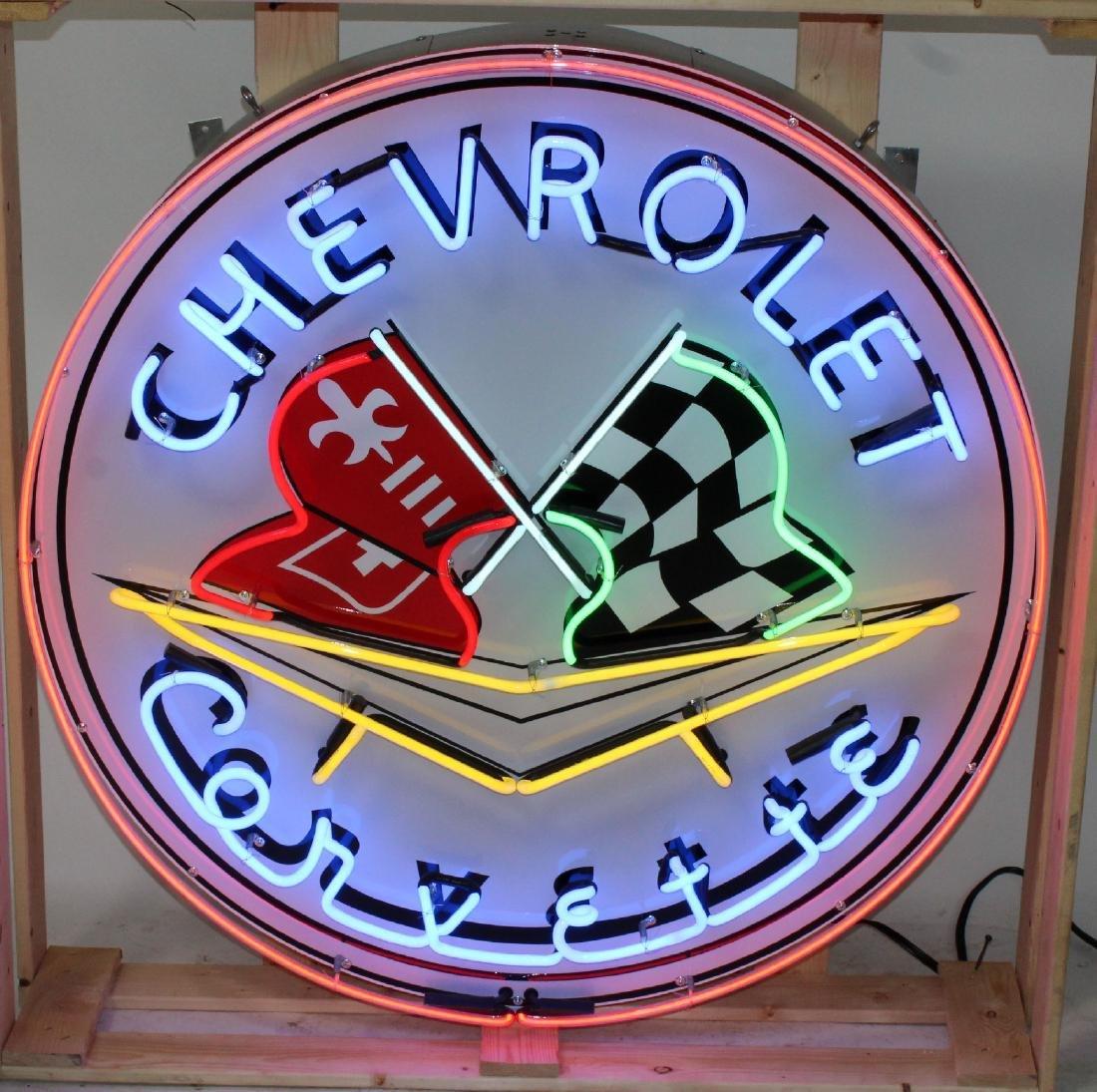Corvette closed can neon sign