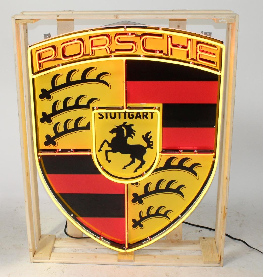 Porsche closed can neon sign