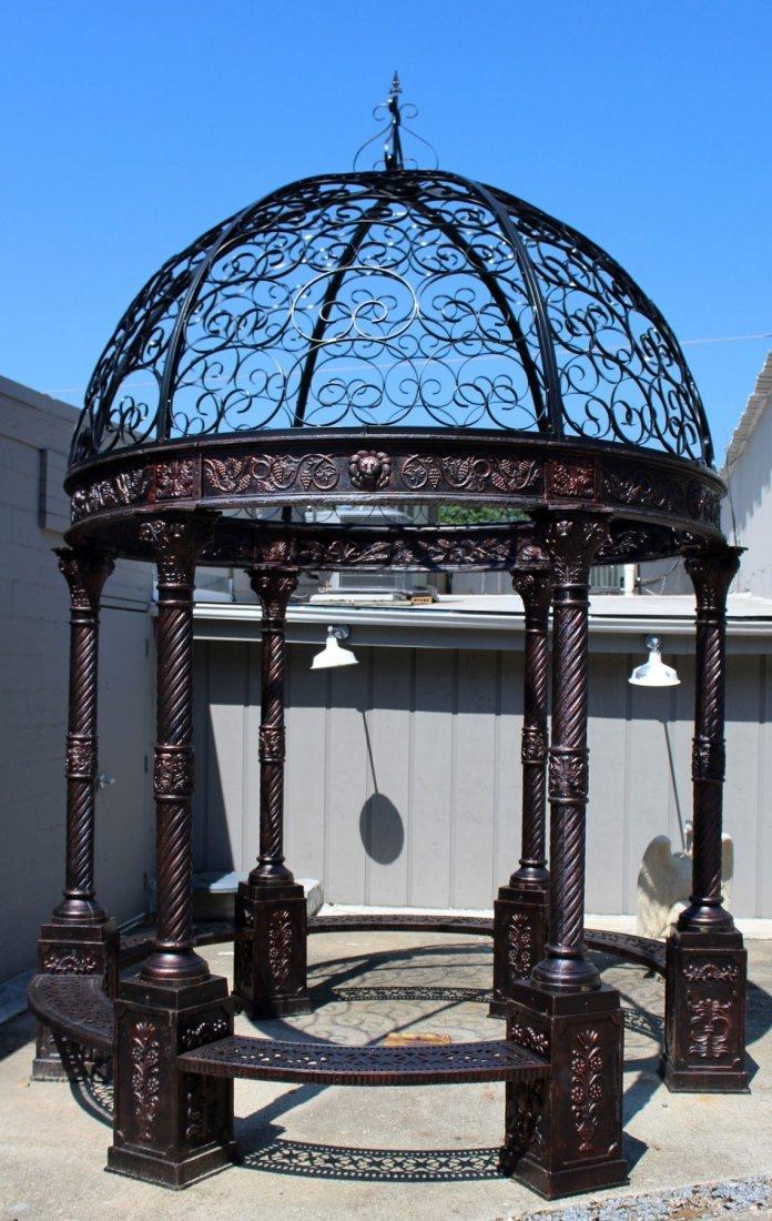 Cast iron dome top garden gazebo