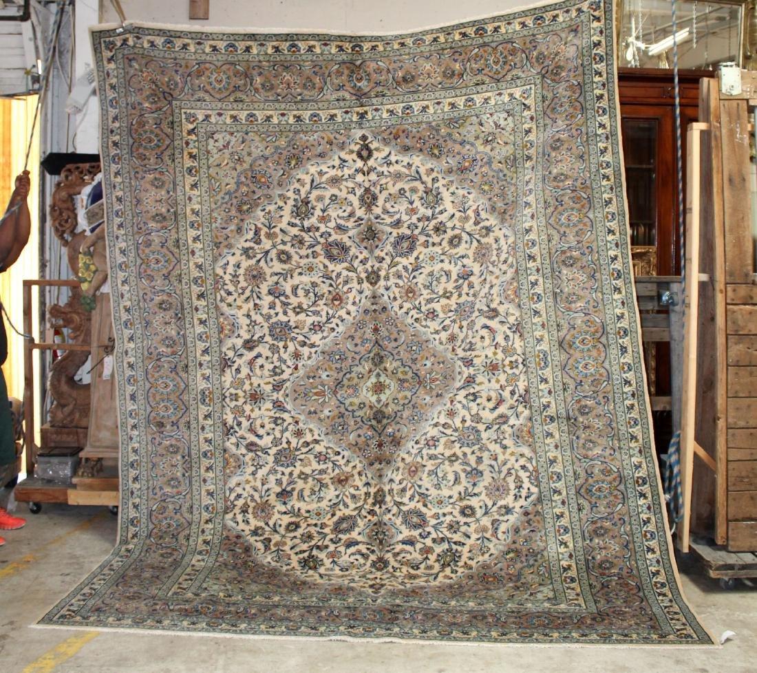 """9'10"""" x 13' Kashan Persian rug"""