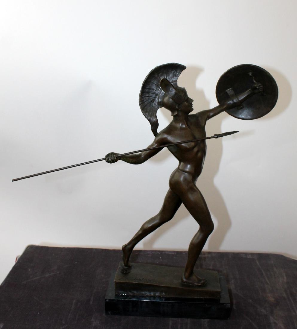Bronze sculpture depicting Achilles