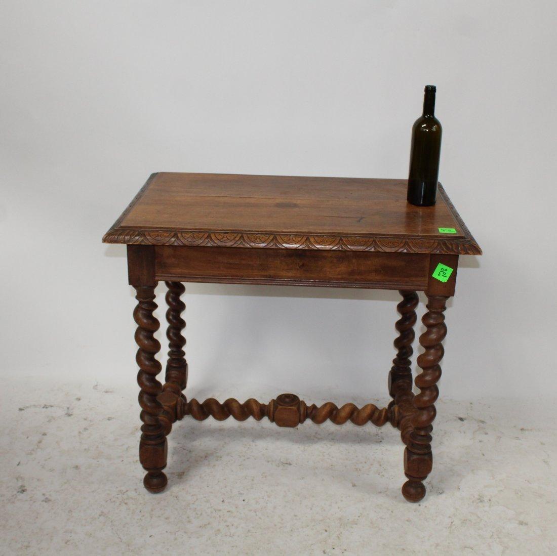 French Louis XIII walnut bureauplat desk