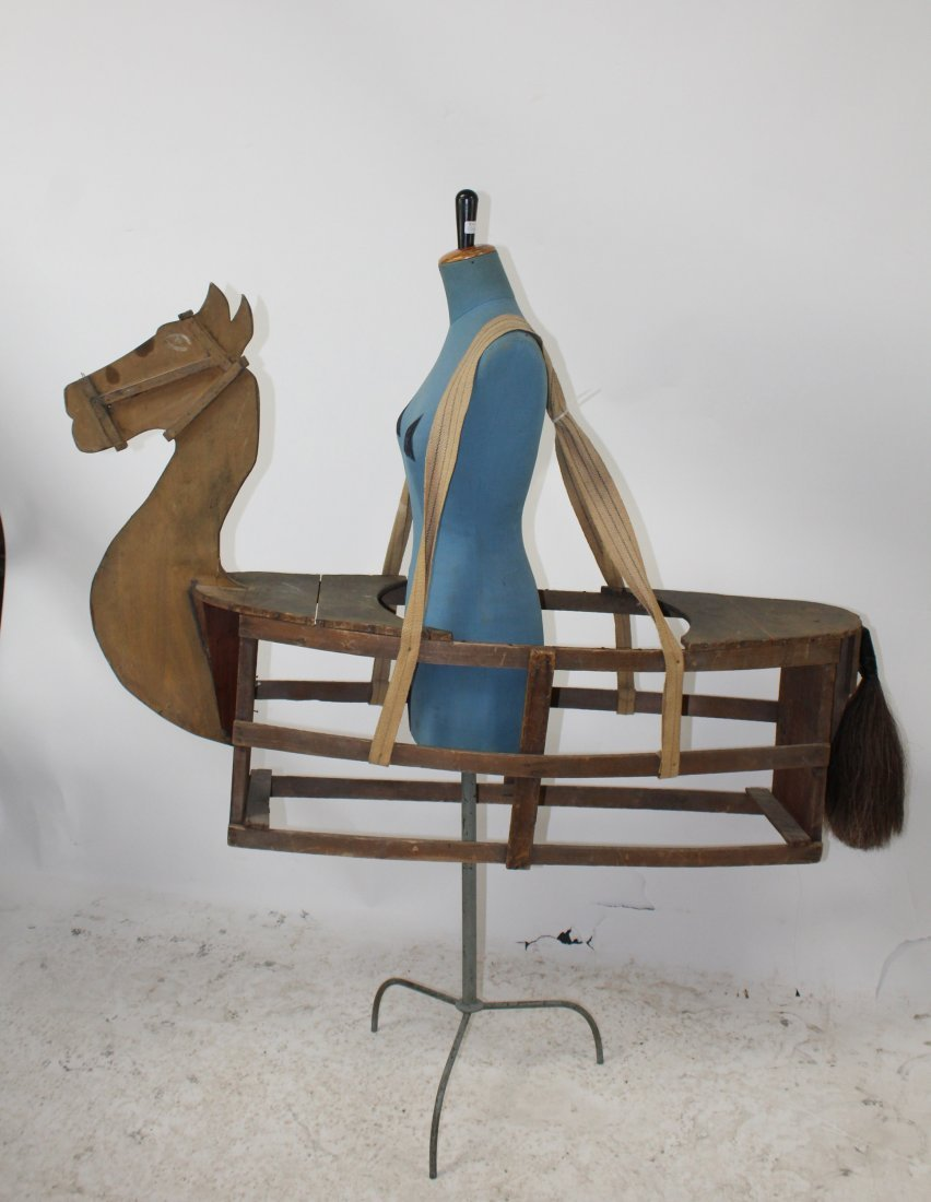 French wooden horse costume from a theater