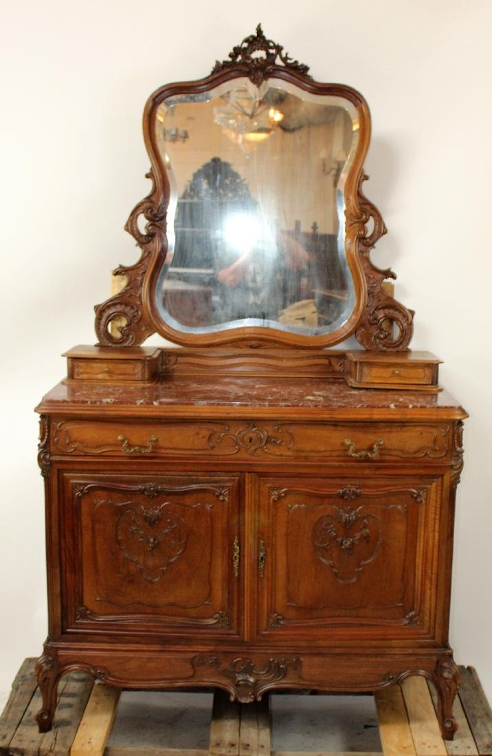 French Louis XV commode with mirror