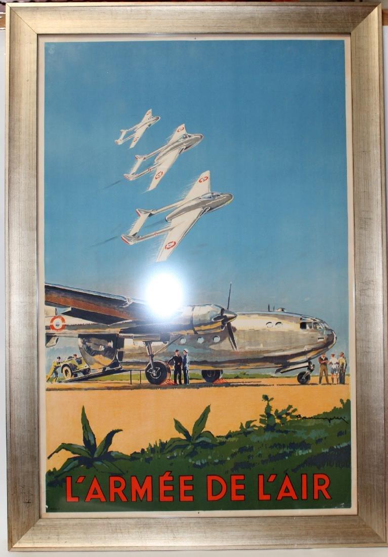 L'Armes De L'Air framed poster
