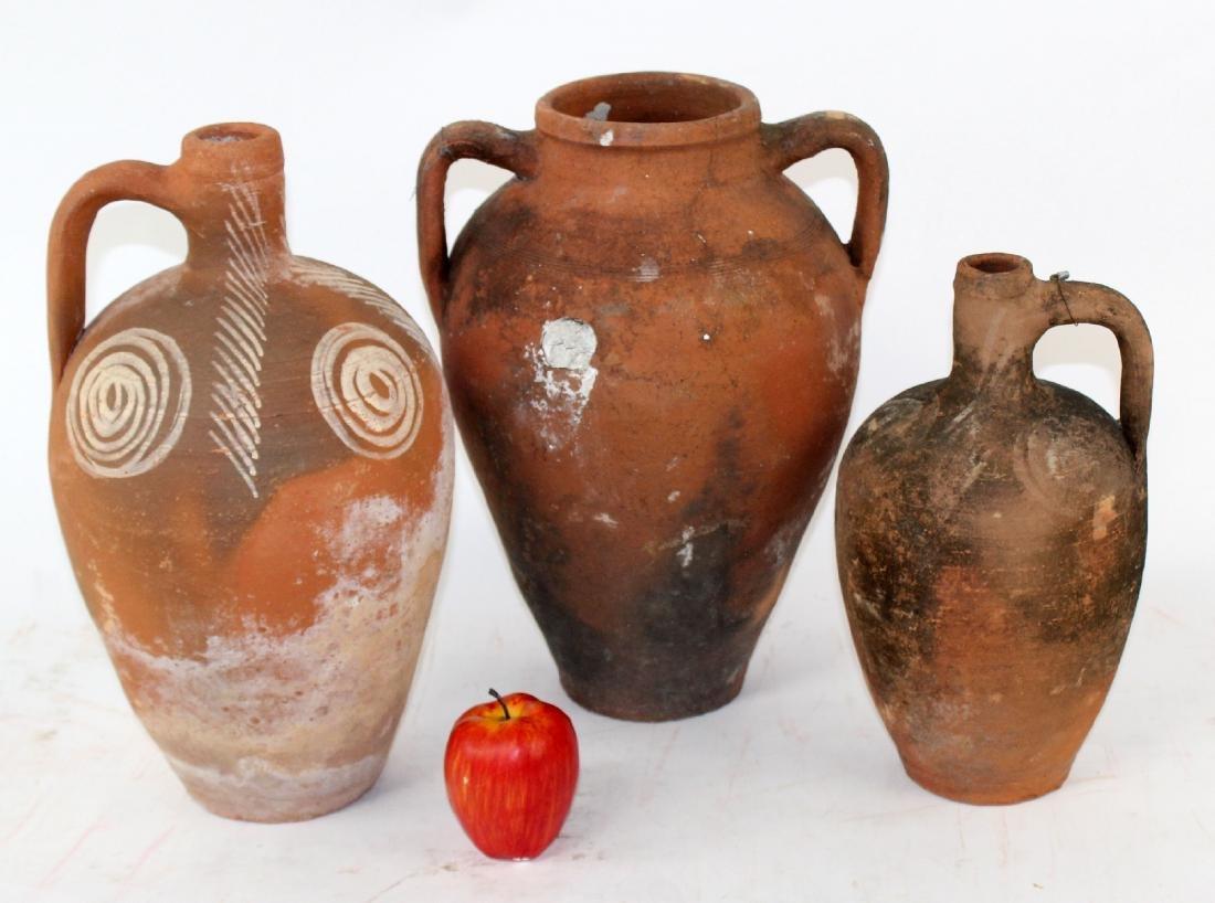 Lot of 3 terra cotta pots