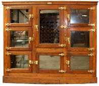 Antique American McCray grocers ice box in oak