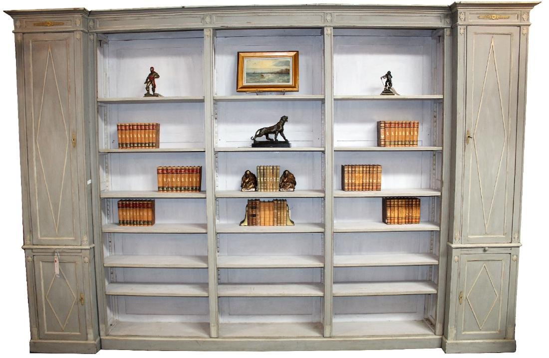 French Directoire style open bookcase