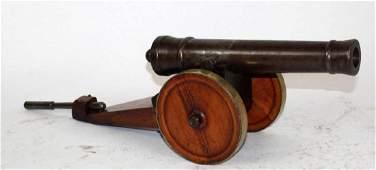 French Louis XIV style bronze desktop cannon model