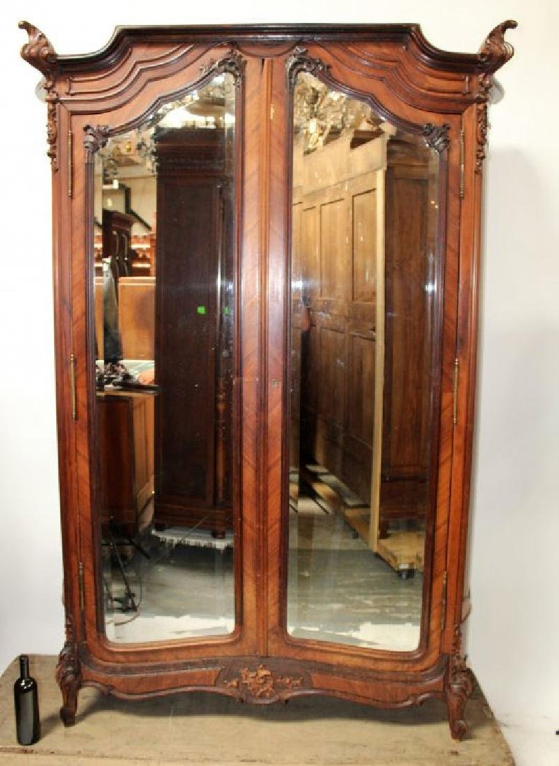 French Louis XV style 2 door armoire