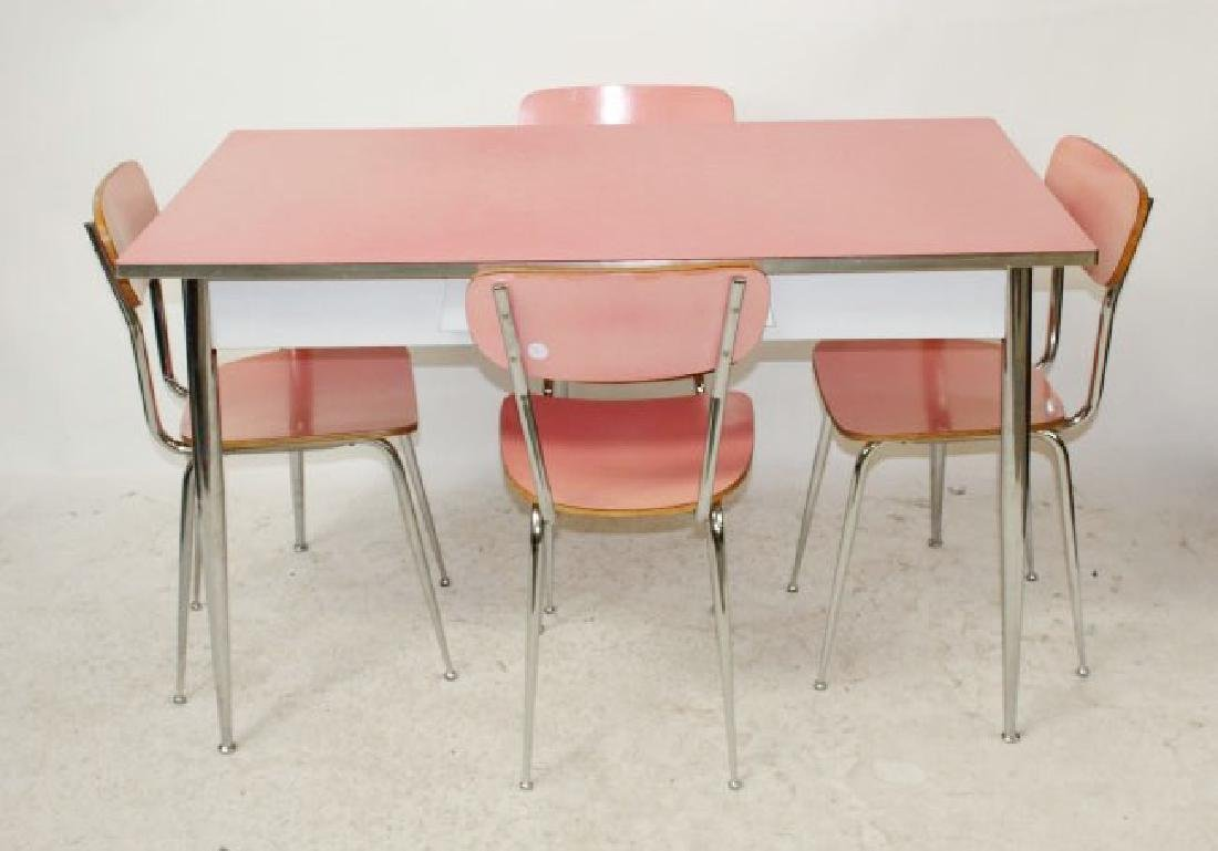 Mid century Retro dinette set table & 4 chairs