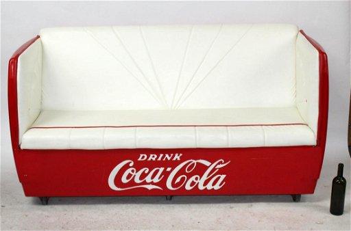 Fantastic Coca Cola Cooler Repurposed Into Leather Sofa Creativecarmelina Interior Chair Design Creativecarmelinacom