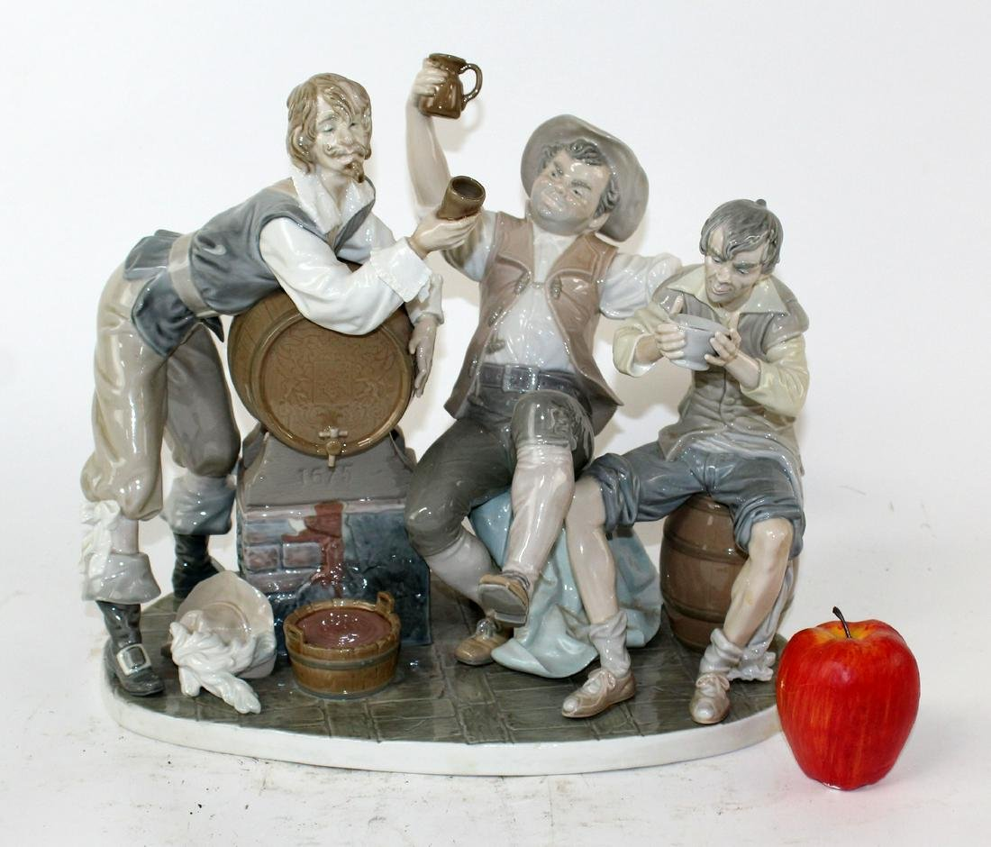 "Lladro ""Tavern Drinkers"" porcelain group"