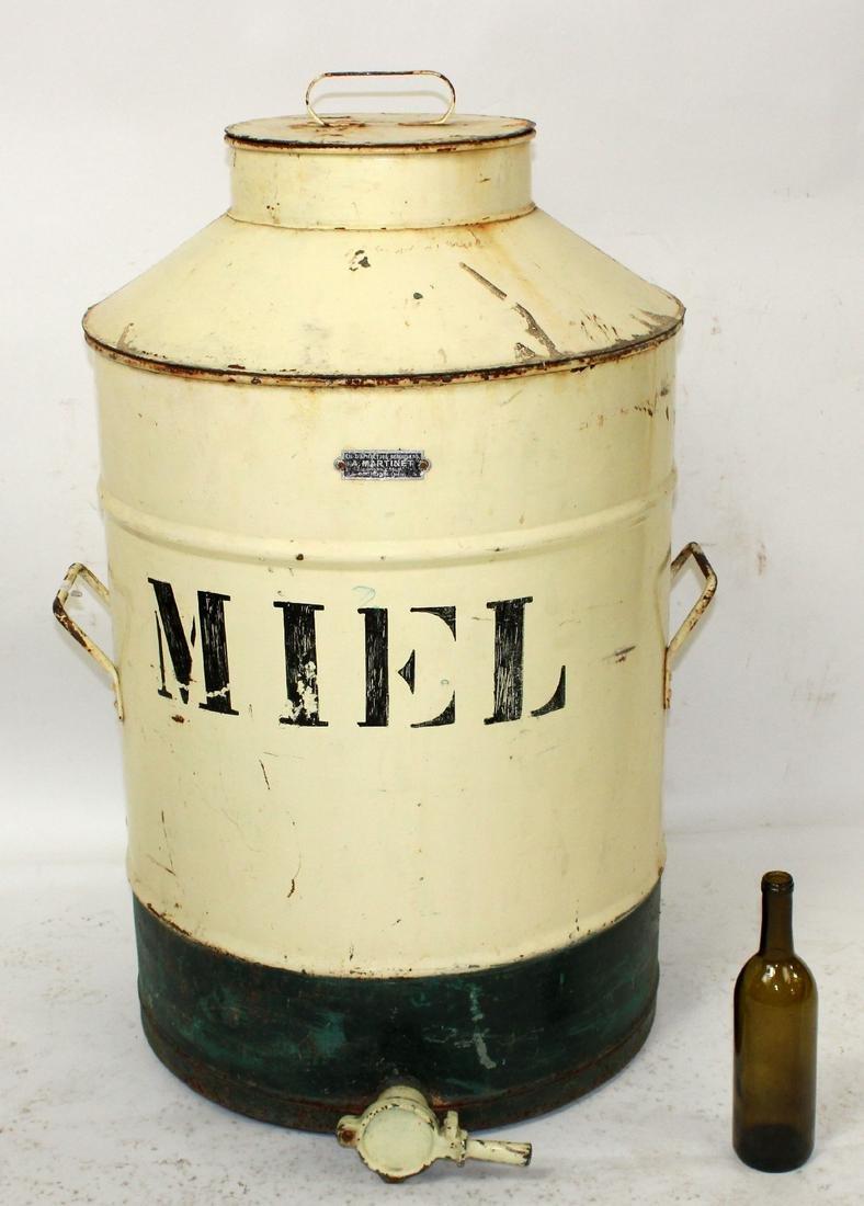 100 liter French tin honey dispenser