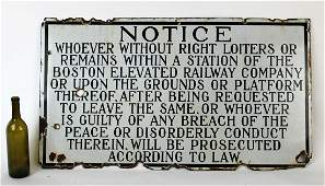 Antique American original No Loitering sign