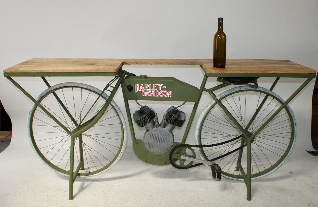 Harley Davidson replica bike console table