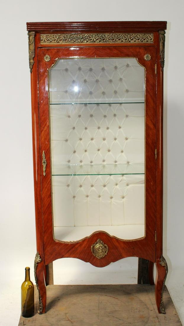 Louis XVI style single door vitrine on legs