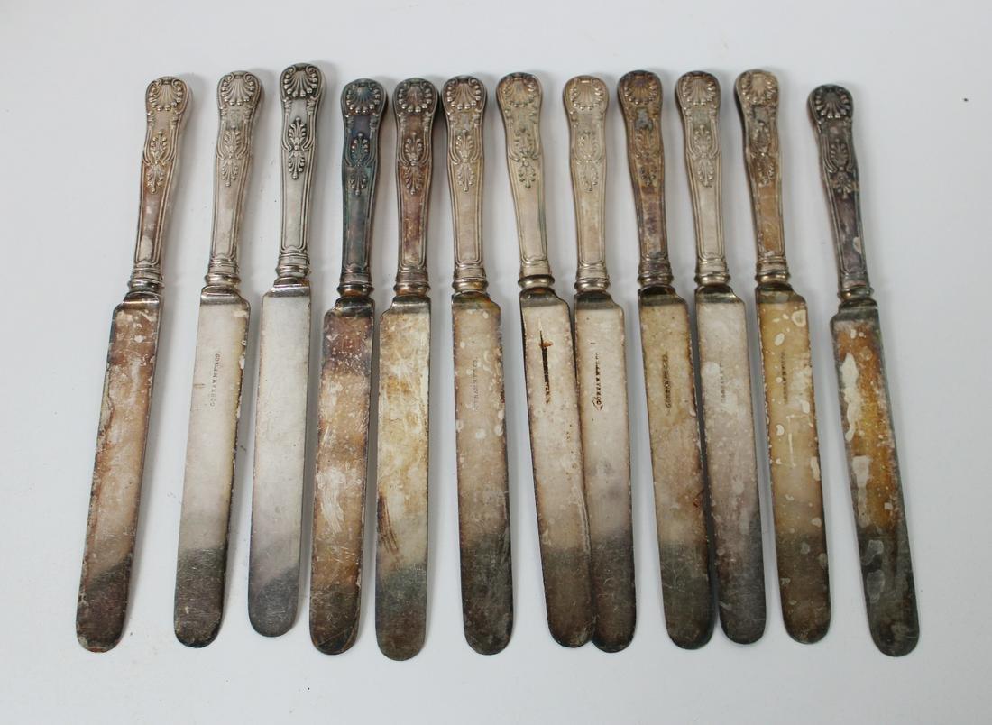 12 Gorham sterling silver knives
