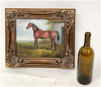 Oil on canvas painting of a horse