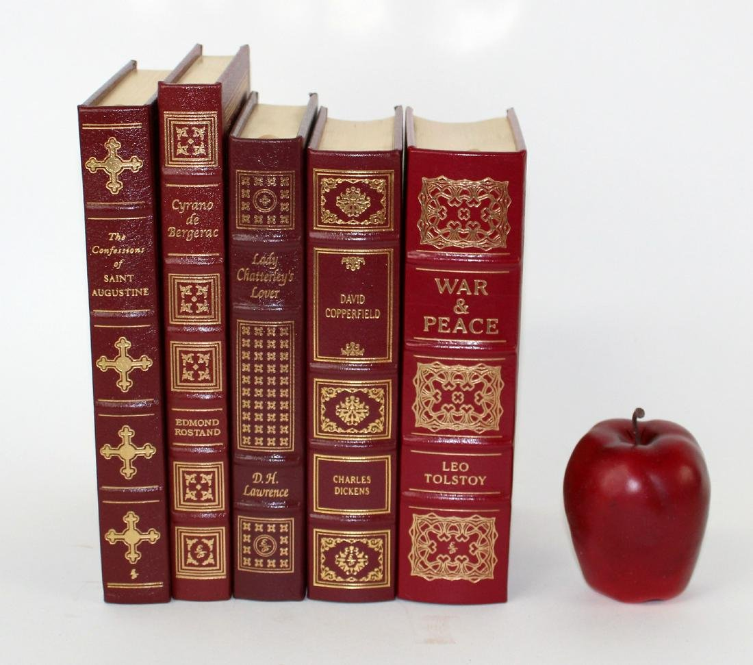 Lot of 5 Easton Press leather bound books