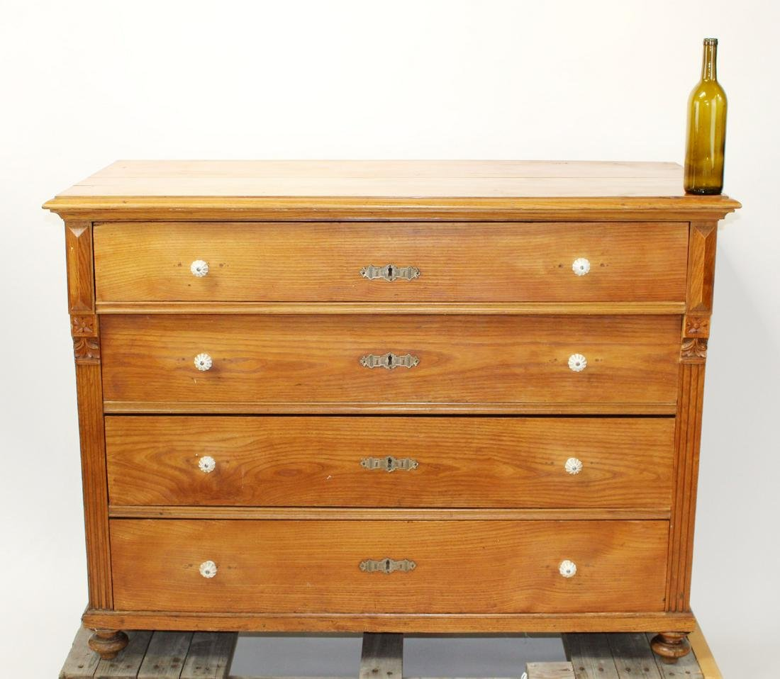 Swedish pine 4 drawer chest
