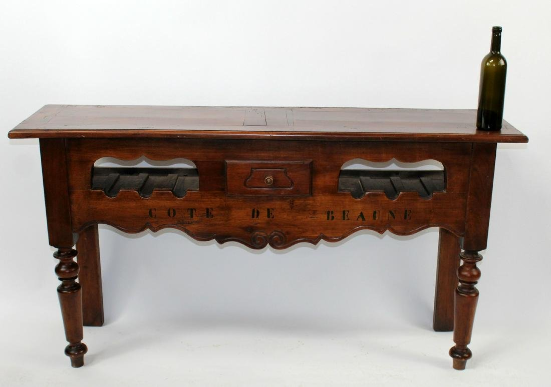 French Provincial style wine console table