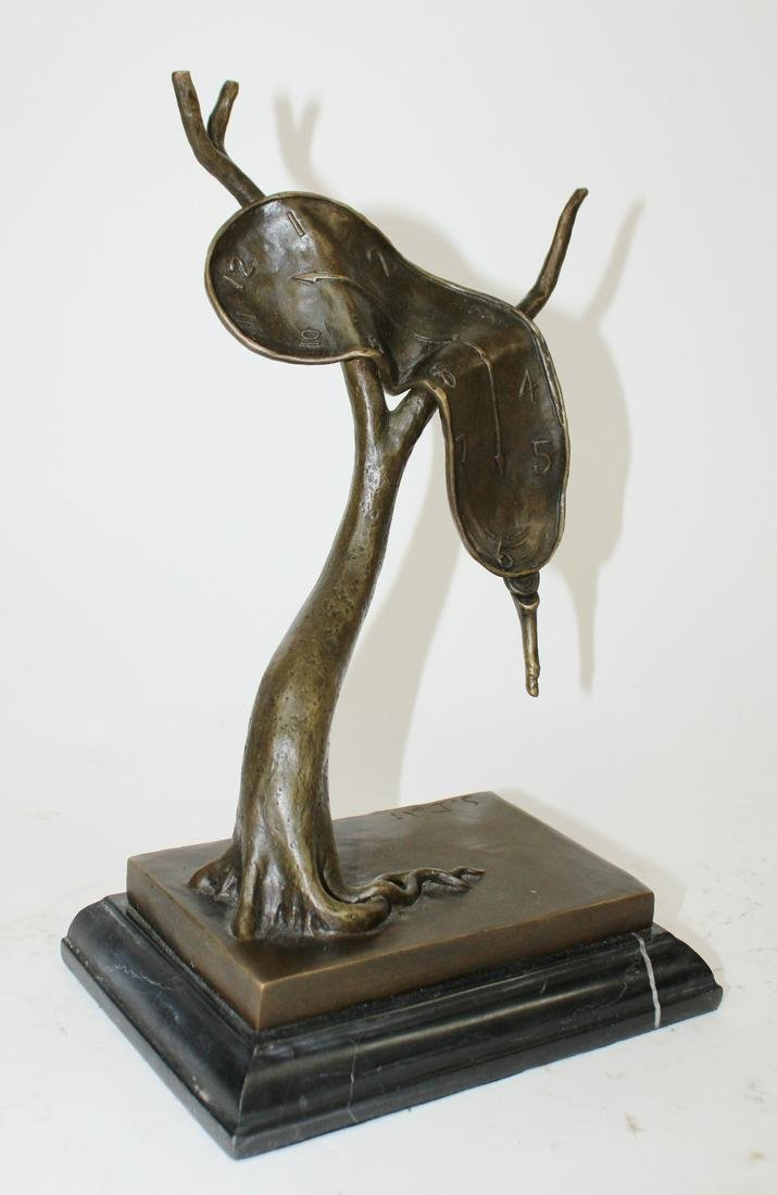Bronze sculpture after Dali Persistence of Memory