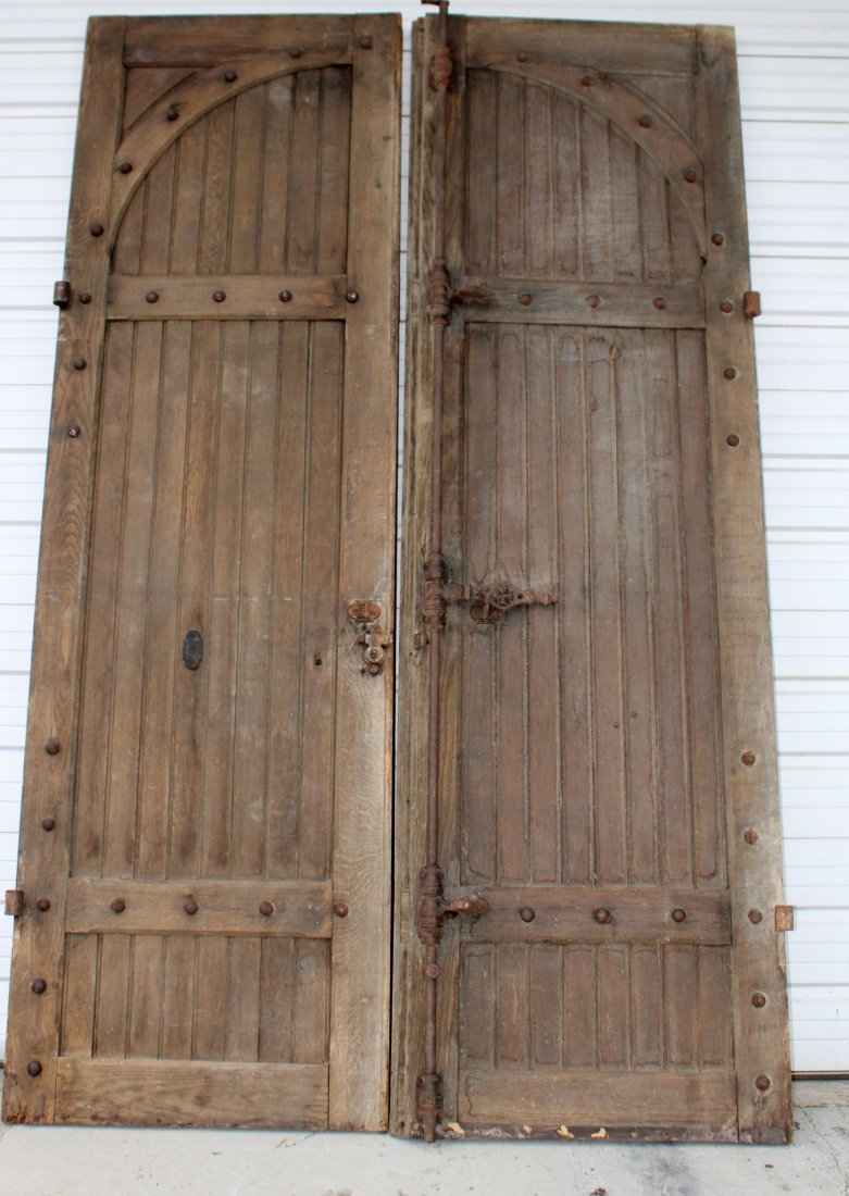 Pair antique French stable doors