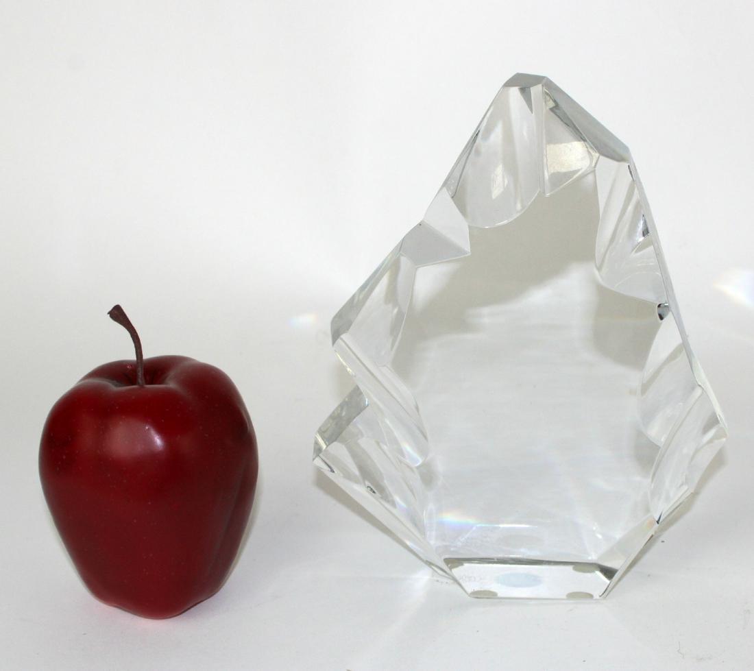 Baccarat crystal iceberg sculpture