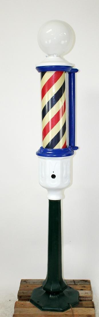 Paidar cast iron stand up barber shop pole