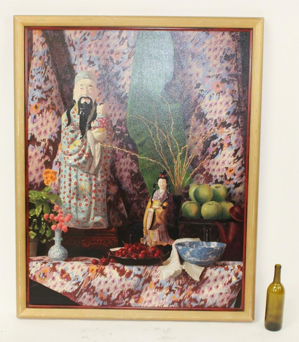 Leon Moye still life oil on canvas